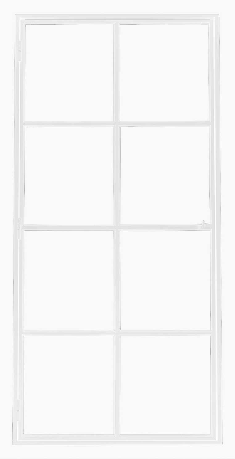 Ferro Elegance White – 8 glasverdelingen