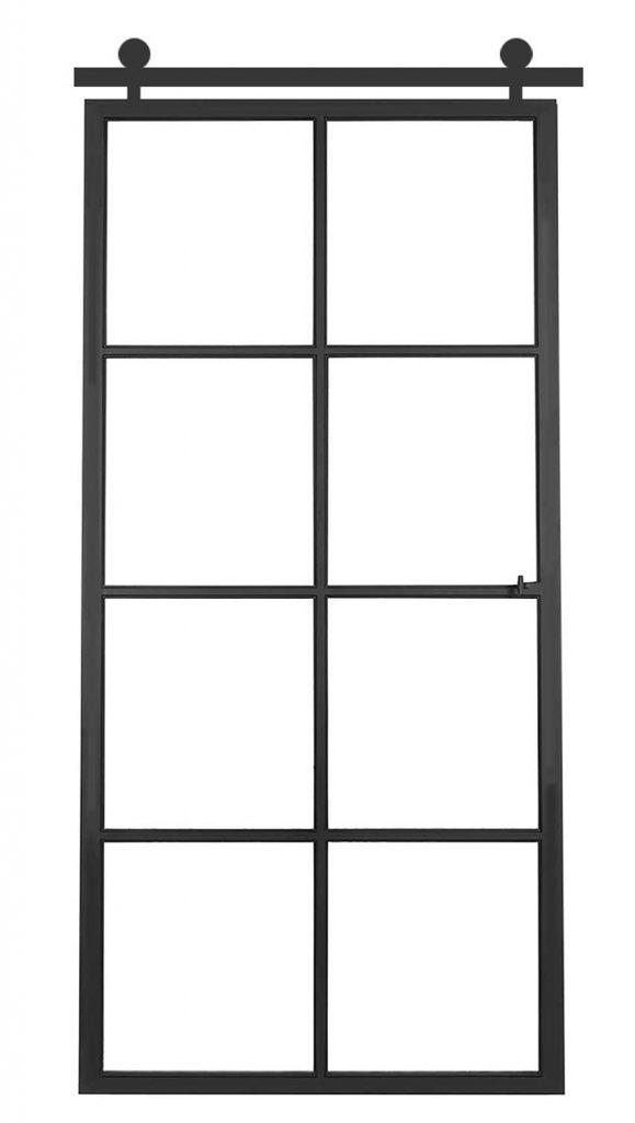 Ferro Elegance schuifdeur – 8 glasverdelingen