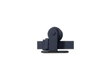 Black Rollers (2 stuks) zwart, voor schuifdeur