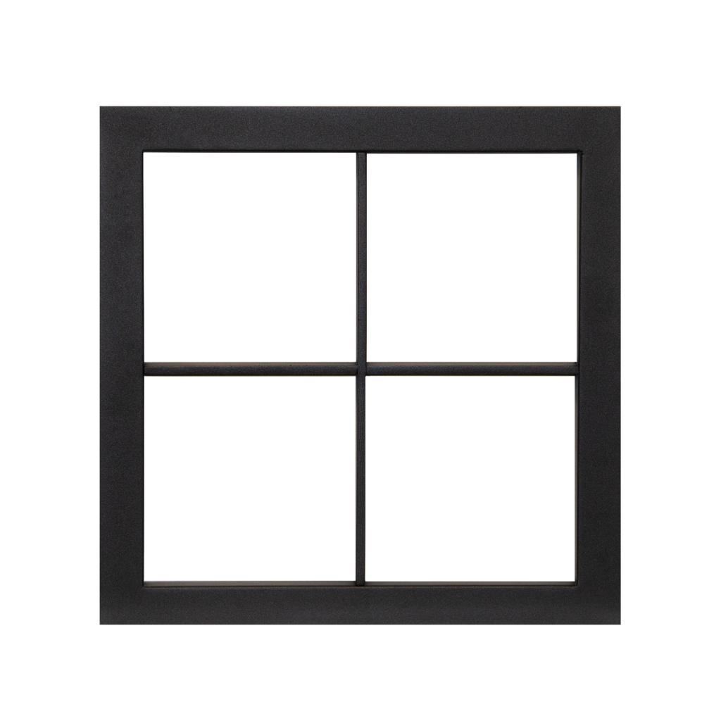 Stalen kader 400 x 400 (helder glas)