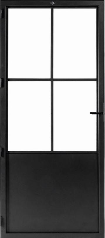 STALEN DEUR CLASSIC 4 – met glasverdelingen + deurkruk – dagmaat 2026X800