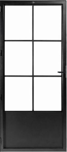 STALEN DEUR CLASSIC 6 – met glasverdelingen + deurkruk – dagmaat 2126X1000