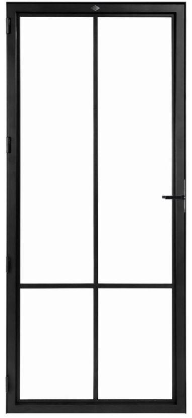 STALEN DEUR MODERN 4 – met glasverdelingen + deurkruk – dagmaat 2026X800