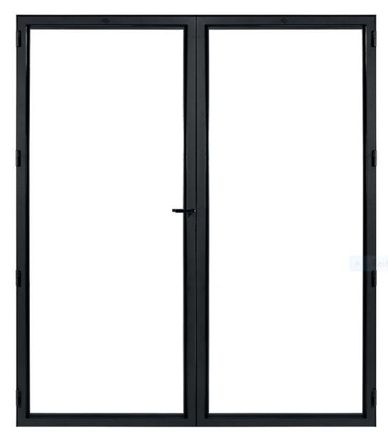 STALEN DEUR MODERN UNI DUO – met glas + deurkruk – dagmaat 2026X1760