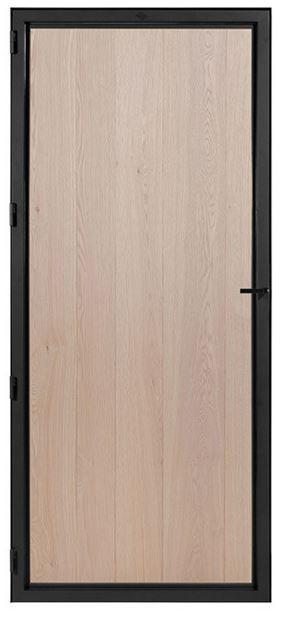 STALEN DEUR WOOD (oak rustic) + deurkruk – dagmaat 2126 x 1000